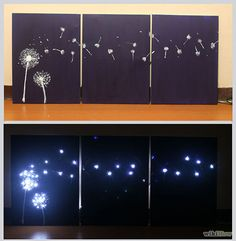 Design Three Panel, Light Up Dandelion Wall Art Intro