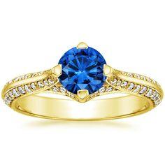 Yellow Gold Sapphire Calla Diamond Ring from Brilliant Earth Natural Sapphire, Brilliant Earth, Gold Diamond Rings, Ring Ring, Heart Ring, Teal, Engagement Rings, Yellow, Jewelry