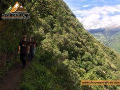 Choquequirao Trek Imperial 5 Days CHOQUEQUIRAO TREK IMPERIAL ITINERARY: Day 1: Cusco - Cachora - Playa Rosalina (Apurimac River). Day 2: Playa Rosalina - Maranpata - Choquequirao (Golden Cradle). Day 3: Choquequirao - Choquequirao Pass - Rio Blanco - Maizal. Day 4: Maizal - Minas Victoria - Yamana. Day 5: Yamana - Mountain Range - Totora. Day 6: Totora - Cloud Forest - La Playa. Day 7: Aguas Calientes - Machu Picchu - Cusco. Contacs: www.choquequiraotrek.com/contac.php Web site…