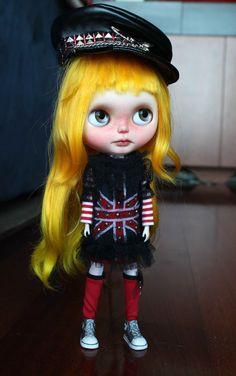 RESERVED Brit OOAK Blythe Custom by me por SandraEfigenio en Etsy