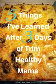 After only three days of Trim Healthy Mama, here are five things i've learned. I hope they will encourage you to start or keep going...recipes too!