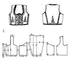 Folk Embroidery Tutorial FolkCostumeEmbroidery: Costume of central Serbia, or Šumadija, Шумадија Costume Patterns, Dress Patterns, Sewing Patterns, Folk Clothing, Clothing Patterns, Folk Embroidery, Embroidery Patterns, European Costumes, Ethno Style