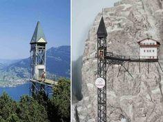 The World's 20 Weirdest & Craziest Elevators ... Hammetschwand Lift which is located in Lake Lucerne, Switzerland. └▶ └▶ http://www.pouted.com/?p=31346