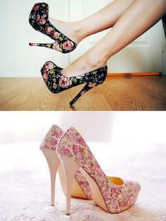 Those are actually really cool, but I don't think I could walk in those heels . . . :/