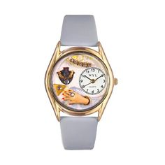 Whimsical Watches Jewelry Lover Blue Baby Blue Leather And Goldtone Watch