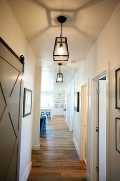 Eldridge Pendants by Ballard Designs I via Caitlin Creer Interiors Hallway light fixtures Hallway Ceiling Lights, Hallway Light Fixtures, Hallway Lamp, Ceiling Fixtures, Hall Lighting, Garage Lighting, Lighting Ideas, Entryway Lighting, Lantern Lighting