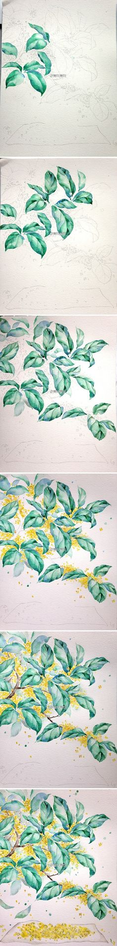 20 Delicate Colorful Watercolor Flower Painting Tutorials In Images-HOMESTHETICS (5)