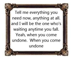 Lifehouse - Undone - Song Lyrics Music