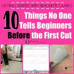 10 Things no one Will tell you before your first Silhouette CAMEO project. Software update