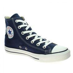 #Bessec Baskets CONVERSE #ALL STAR HI Bleu Marine à 70 € disponibles sur http://www.bessec-chaussures.com/... ou dans nos magasins.