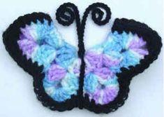 My Grandma Joann had several of these butterfly magnets on her fridge. Free Crochet pattern Monarch Butterfly Fridgies #30