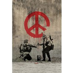 Check out what's on sale at TouchOfModern  Soldiers painting peace Love it.