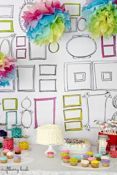 "I love this idea... I may take my ""rainbows & unicorns"" party idea and transform it into a ""rainbow paint party"""