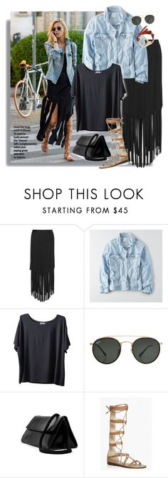 """Untitled #395"" by craftsperson ❤ liked on Polyvore featuring Mynt 1792, American Eagle Outfitters, Kavu, Ray-Ban, Boohoo, Chloé and NYFW"