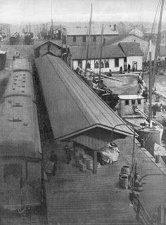 Model Railroad Minutiae: Crisfield Maryland Railroad Station 1919