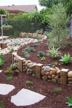 """""""View this Great Rustic Landscape and Yard with Pathway & exterior stone floors. Discover & browse thousands of other home design ideas on Zillow Digs."""""""