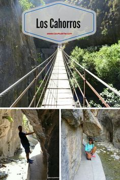 Los Cahorros in sierra nevada, spain is a great Indiana Jones like adventure! Los Cahorros will trigger your adventurous personality with its hanging bridges and overhanging rocks!