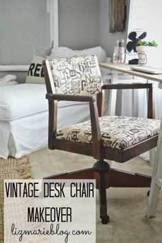 Vintage desk chair makeover