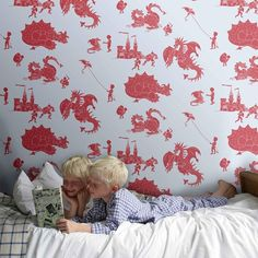 Papeles Pintados infantiles... Paper Boy Wallpaper