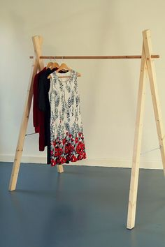 Items similar to Handmade Wooden Clothing Rack//handmade wooden clothes rack of Whitewood, demountable on Etsy Wooden Clothes Rack, Diy Clothes Rack, Wooden Diy, Handmade Wooden, Etsy Handmade, Kids Clothesline, Diy Rack, Clothing Displays, Make Your Own Clothes