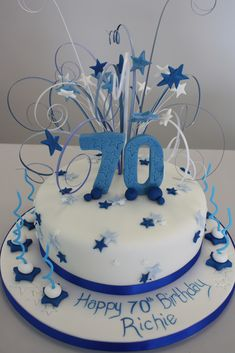 blue 70 cake - Google Search