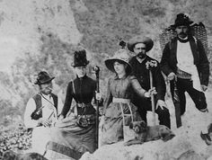 Sisi hiking in the mountains. Elisabeth of Austria (due to the movie also known now as Sissi, 1837-1898)