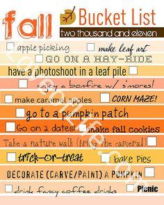 Really simple/cute idea for organizing seasonal 'bucket lists'