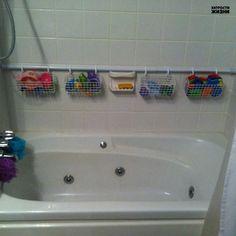 Как хранить детские игрушки для ванной