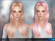 The Sims Resource: Alesso – Nana Hair • Sims 4 Downloads