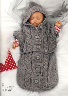 cabled sleep sack for baby