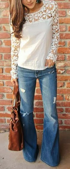 instagram flared jeans - Buscar con Google