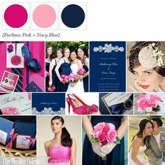 Navy, shades of pinks, add grey and that's our colors! So pretty <3
