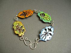 Enameled Copper Bracelet by JaneFont