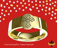 Orthodox cross Russian ring three bar cross Greek Serbian Romanian