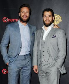 Photo of Armie Hammer & his friend  Henry Cavill