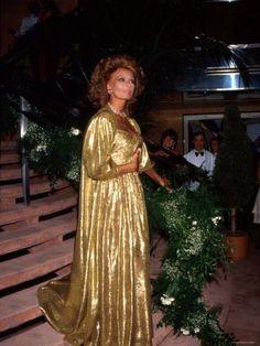 Sophia Loren wearing Nolan Miller