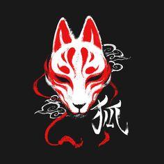 Check out this awesome 'Kitsune mask' design on Kitsune Maske, Japanese Fox Mask, Hanya Tattoo, Oni Tattoo, Mask Drawing, Japon Illustration, Japanese Tattoo Art, Samurai Art, Anime Tattoos