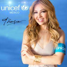 """@LadyTH Thalia """"Embajadora de Unicef México"""" Siempre con su corazón solidario ♥"""
