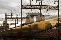 Brooklyn Bridge, Osaka, Train, Zug, Strollers