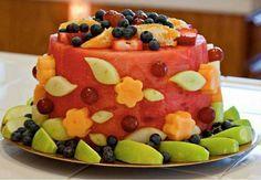 Obsttorte statt Kuchen für Kindergeburtstag