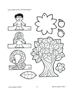 Adam And Eve Bible Coloring Pages