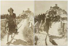 Eva Braun walking her dogs at the Kehlsteinhaus