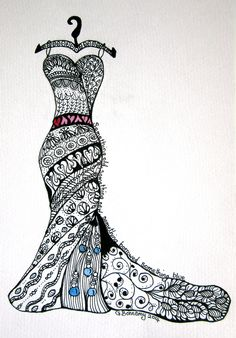 1000+ images about Zentangles dresses on Pinterest ...
