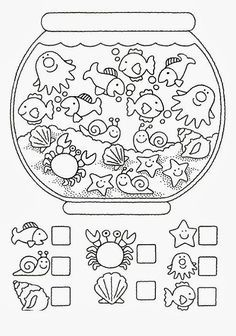Crafts,Actvities and Worksheets for Preschool,Toddler and Kindergarten.Lots of worksheets and coloring pages. Preschool Worksheets, Preschool Learning, Kindergarten Math, Preschool Activities, Teaching, Counting Worksheet, Learning Skills, Early Learning, Math For Kids