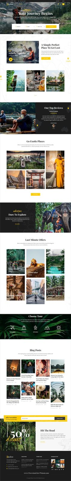 Wanderers is a clean and modern design responsive #WordPress theme for adventurous #travel and #tourism industries #website to download & live preview click on image or Visit #hospitality