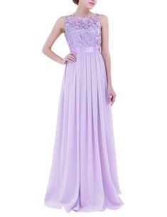 Elegant Chiffon Embroidered Sleeveless Long Bridesmaid Dress - Uniqistic.com