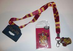 abd37dded44 Gryffindor House Striped Neck Lanyard ID Badge Holder Keychain Harry Potter   Bioworld Harry Potter Style