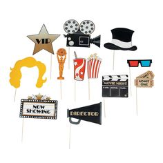 9024a96d0518e Image result for oscar party photo booth props Outdoor Movie Party