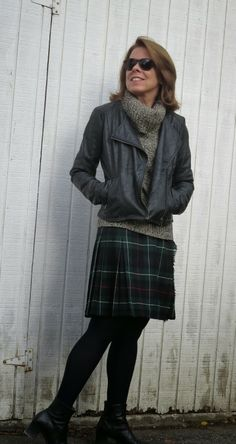 Flattering50 - Plaid skirt.... I need one, this looks interesting!