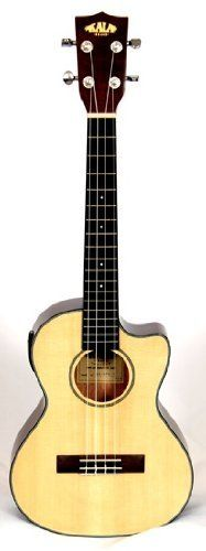Kala KA-STE-C Tenor Ukulele w/ EQ by Kala. Save 30 Off!. $279.00. The Kala KA-STE-C tenor cutaway ukulele is fitted with a solid Sitka spruce top and mahogany back and sides. It is equipped with a Shadow P3 preamp with a 2-band EQ and projects a rich warm sound. This ukulele also features traditional white/black binding, which accents the high gloss finish and chrome die-cast tuners. Sorry, case not included.
